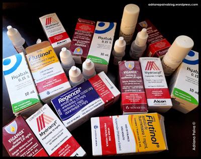 blog da jornalista Adriana Paiva olhos visão úlcera córnea colírios soluções oftálmicas uso oftálmico Alcon Mydriacyl Hyabak Flutinol